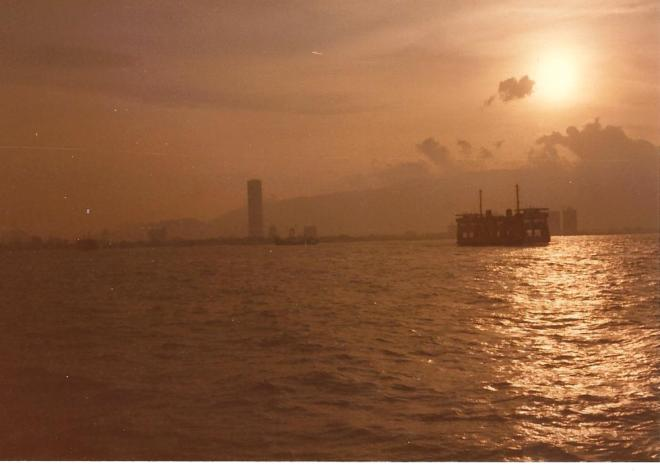 Straits of Malacca Penang 1985 with  boat 001