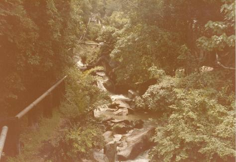 Waterfall on way up to Penang Hill 1985